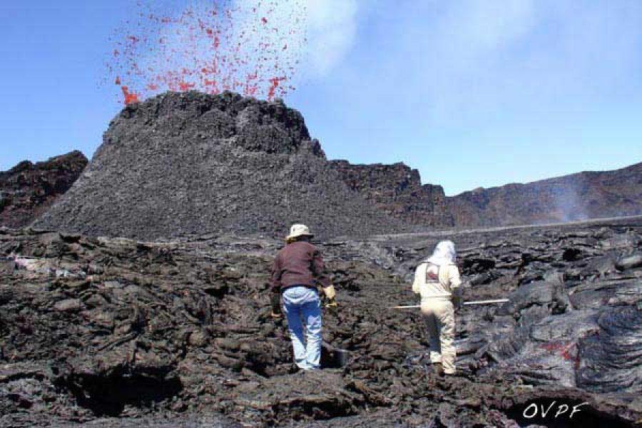 L'éruption de janvier 2002